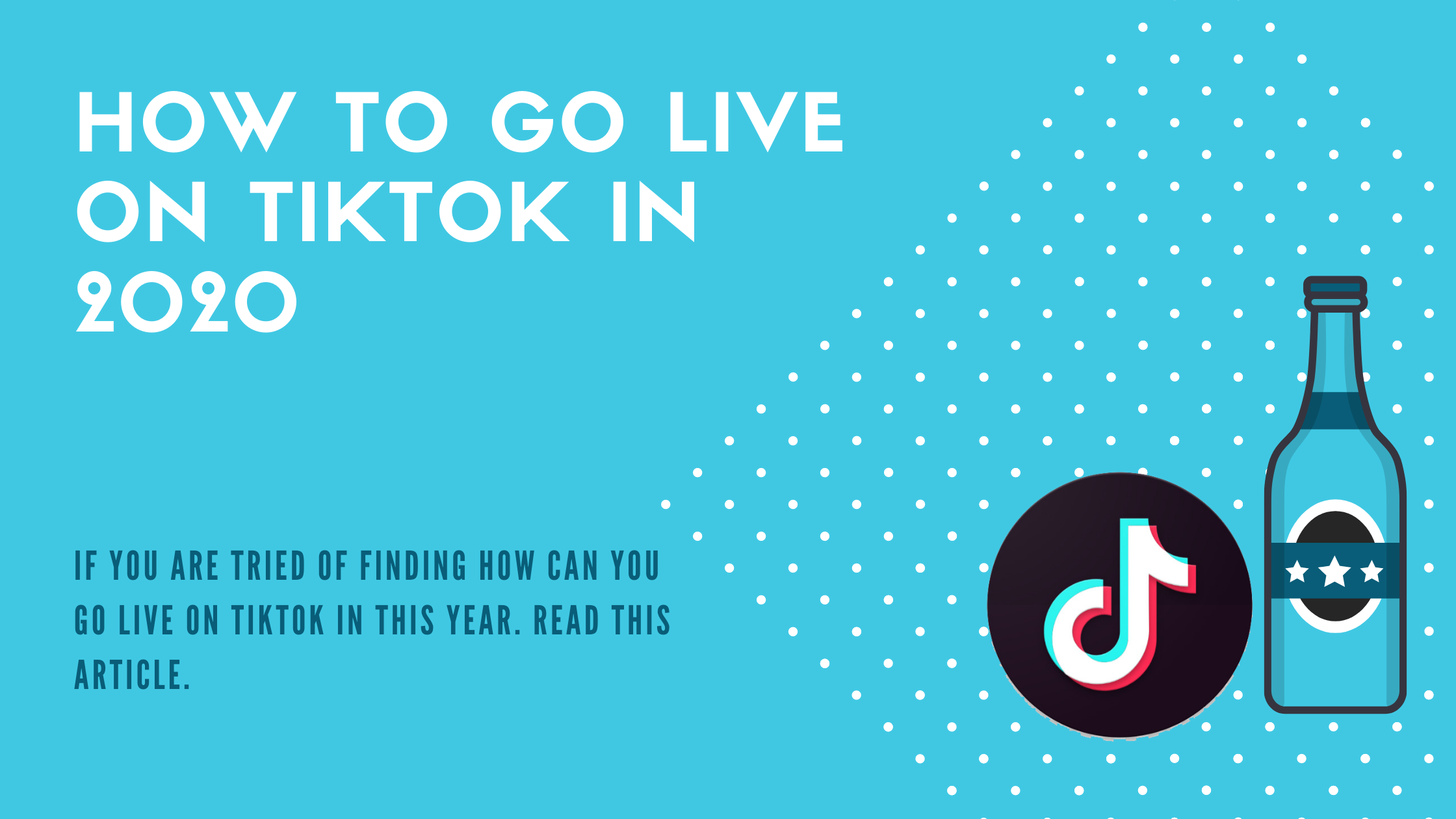 how to go live on tiktok
