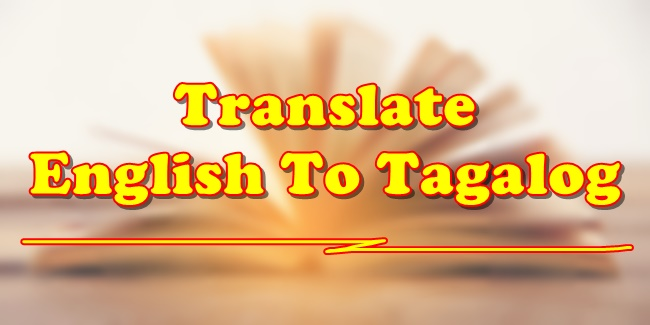 English to Tagalog translator