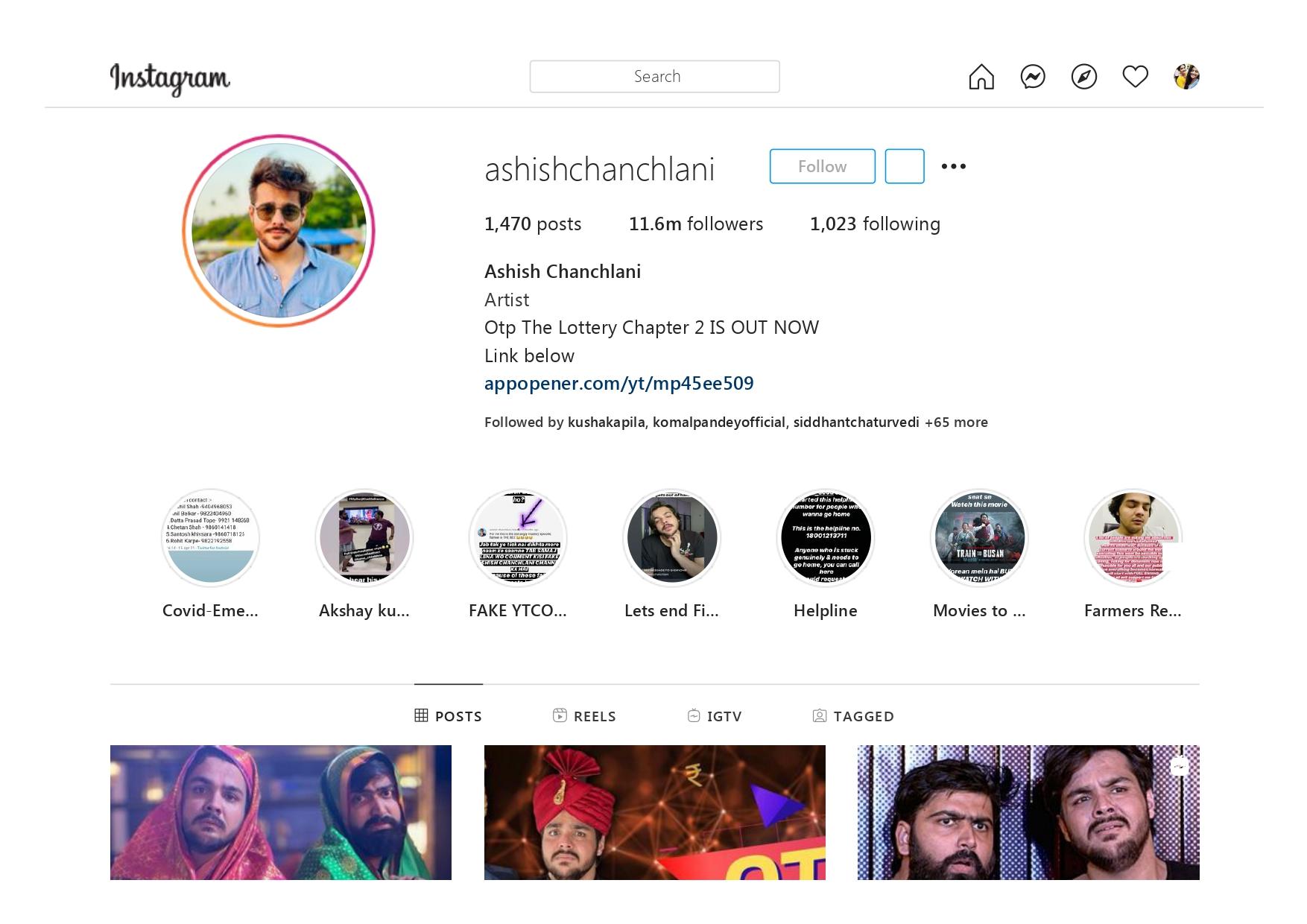 Ashish Chanchlani (ashishchanchlani) Youtuber